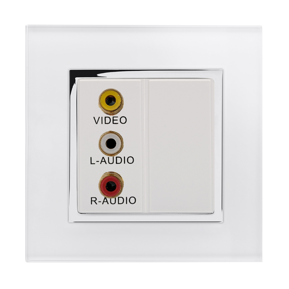 Crystal CT Audio/Video Socket White