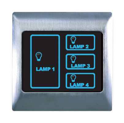 Boutique Metal Touch & Remote Light Switch 4 Gang - RetroTouch ...