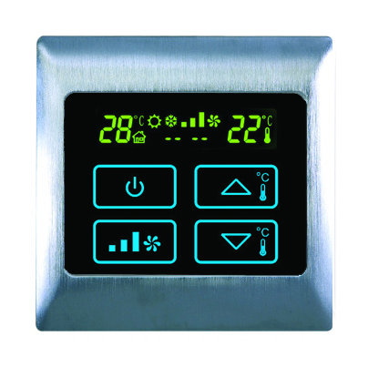 Boutique AC Touch Thermostat - AC2000T Electric Brushed Satin