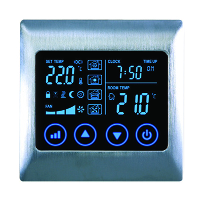 Boutique AC Touch Thermostat V2 - AC2000L8-4P Electric Brushed Satin