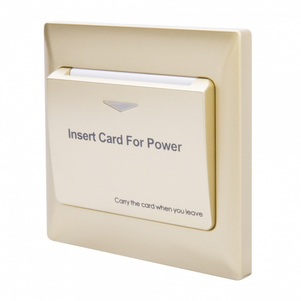 Energy Key Card Saver - Gold Plastic