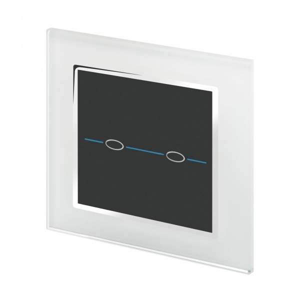 Crystal CT Wirefree Touch Light Switch 2 Gang White