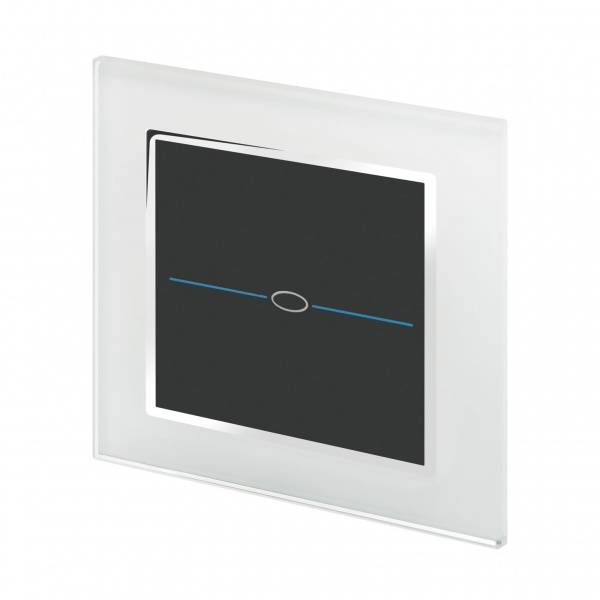 Crystal CT Wirefree Touch Light Switch 1 Gang White