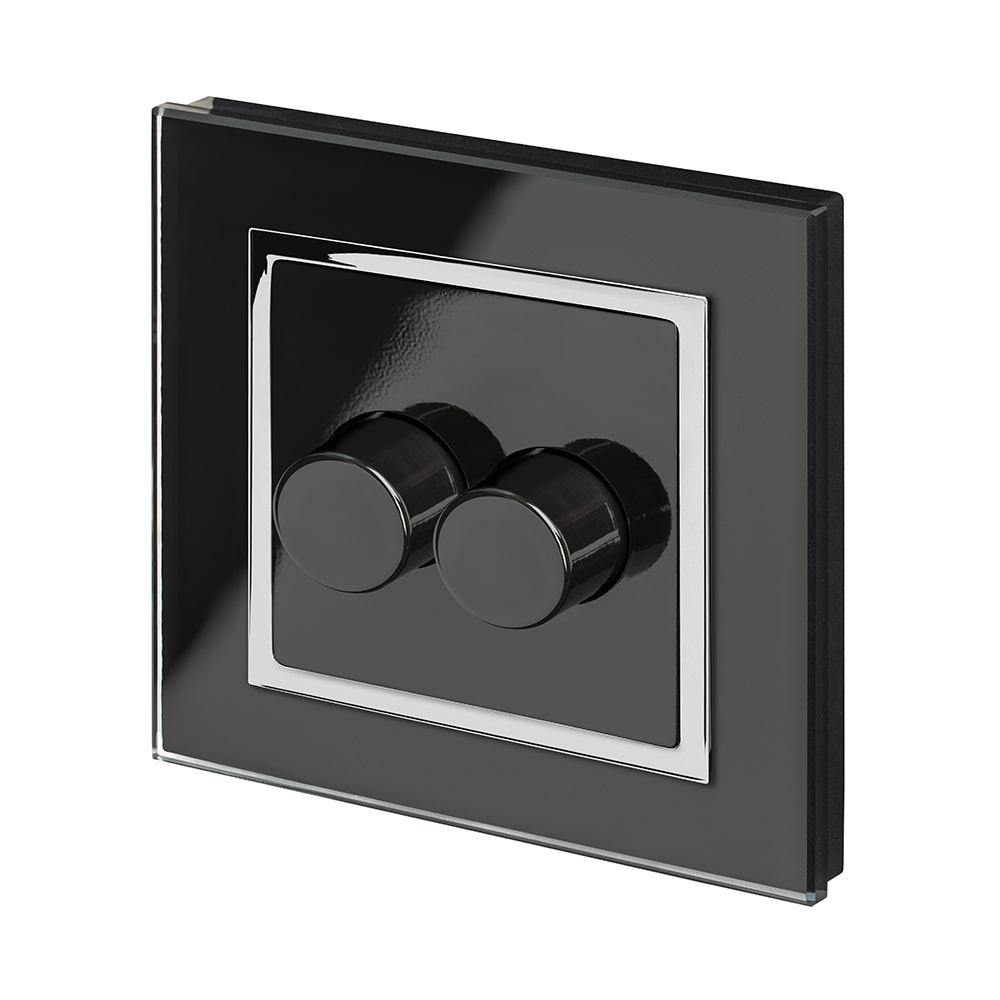 Crystal CT 2G Rotary LED Dimmer Switch 2Way Black - RetroTouch ...