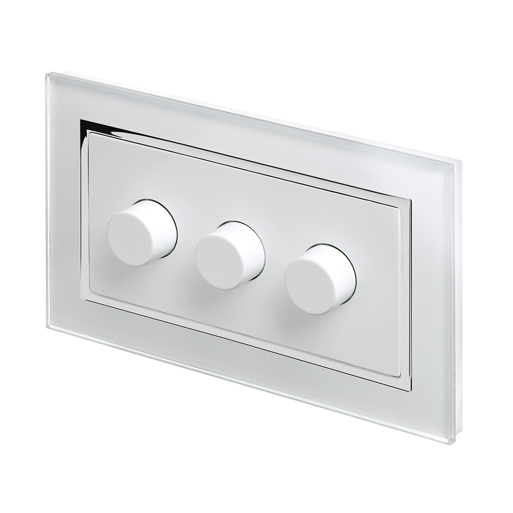 Crystal CT 3G Rotary LED Dimmer Switch 2 Way White RetroTouch - 2 Way Dimmer Switch Module