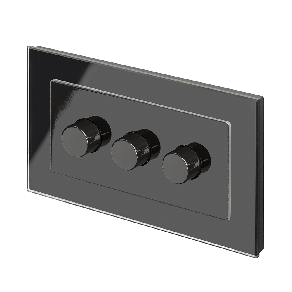 Crystal Pg 3g Rotary Led Dimmer Switch 2 Way Black Retrotouch Light