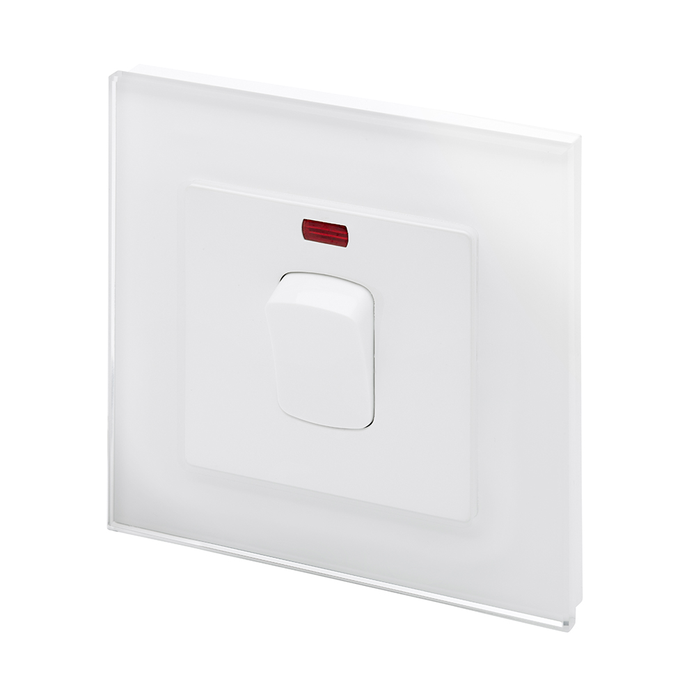 crystal pg 20a dp switch with neon white retrotouch designer light