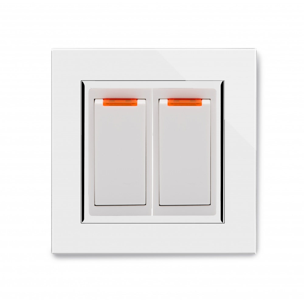 Crystal CT 20A Dual Switch with Neon White - RetroTouch Designer ...