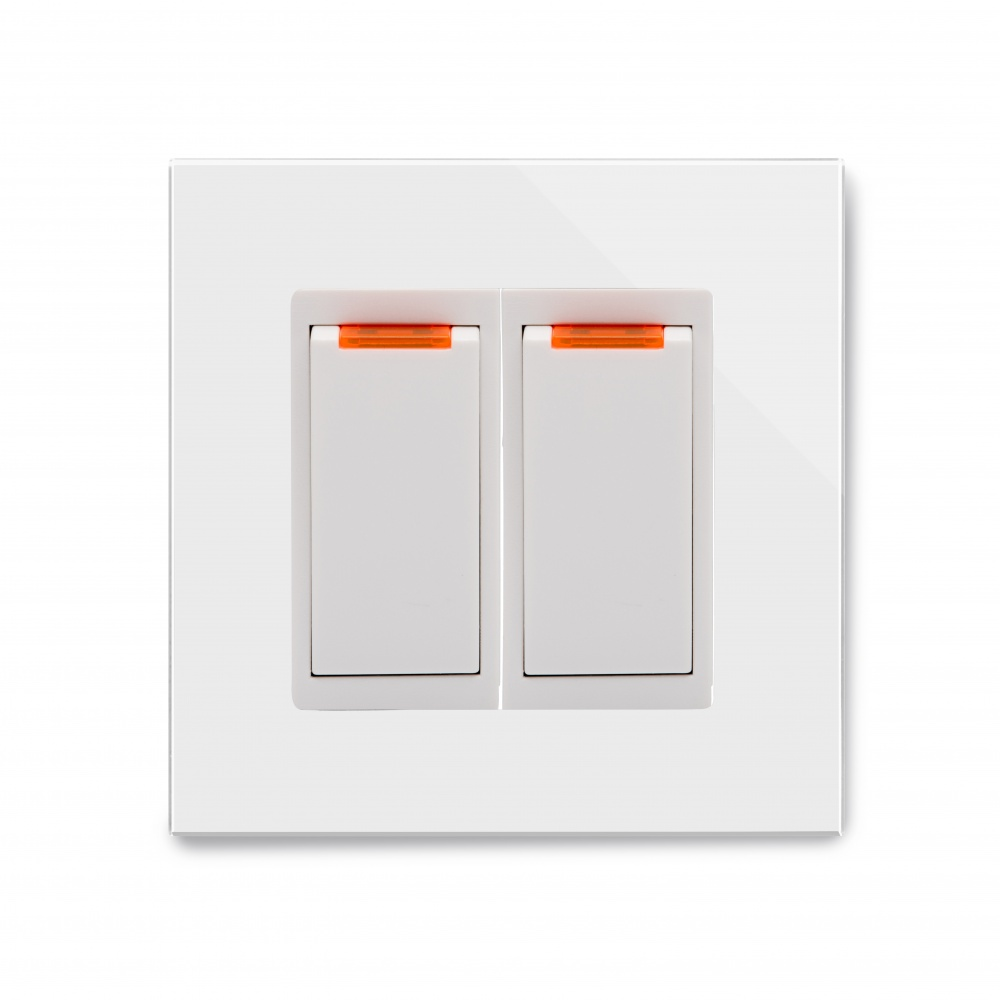 Crystal PG 20A Dual Switch with Neon White - RetroTouch Designer ...