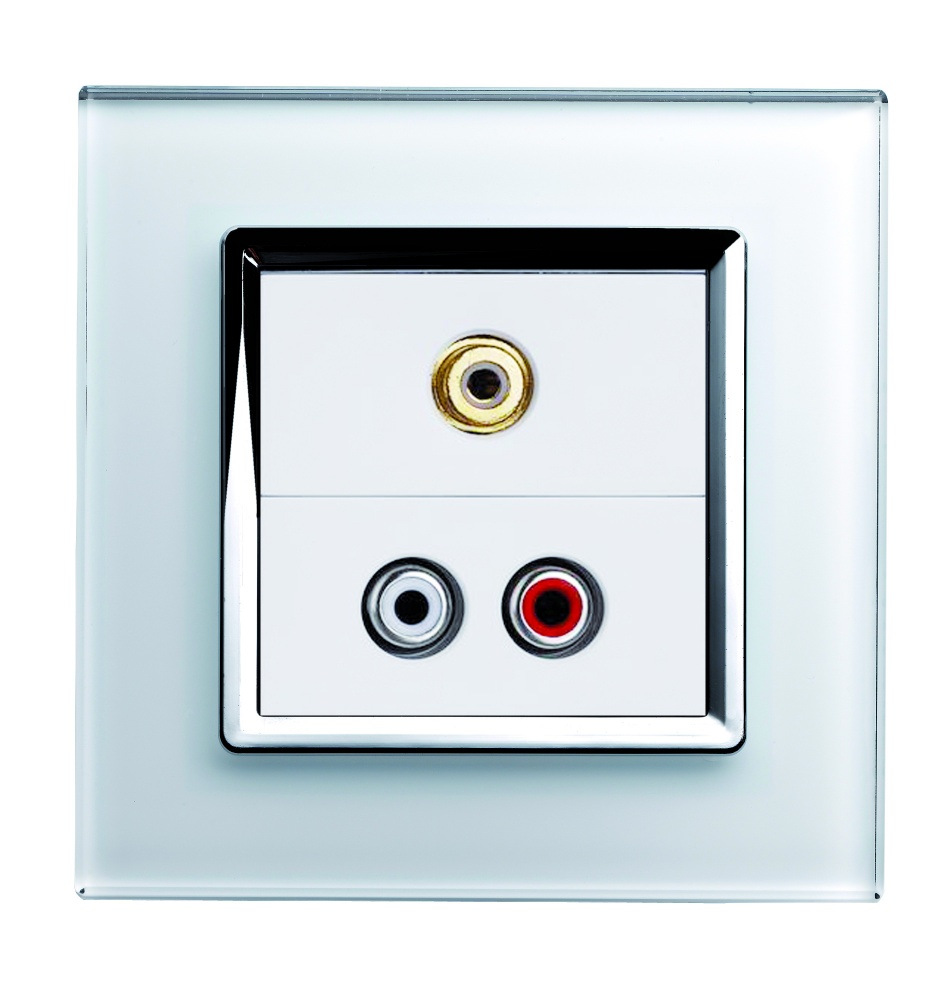 Crystal Ct Audio Video Socket White Retrotouch Designer Light Wiring Accessories