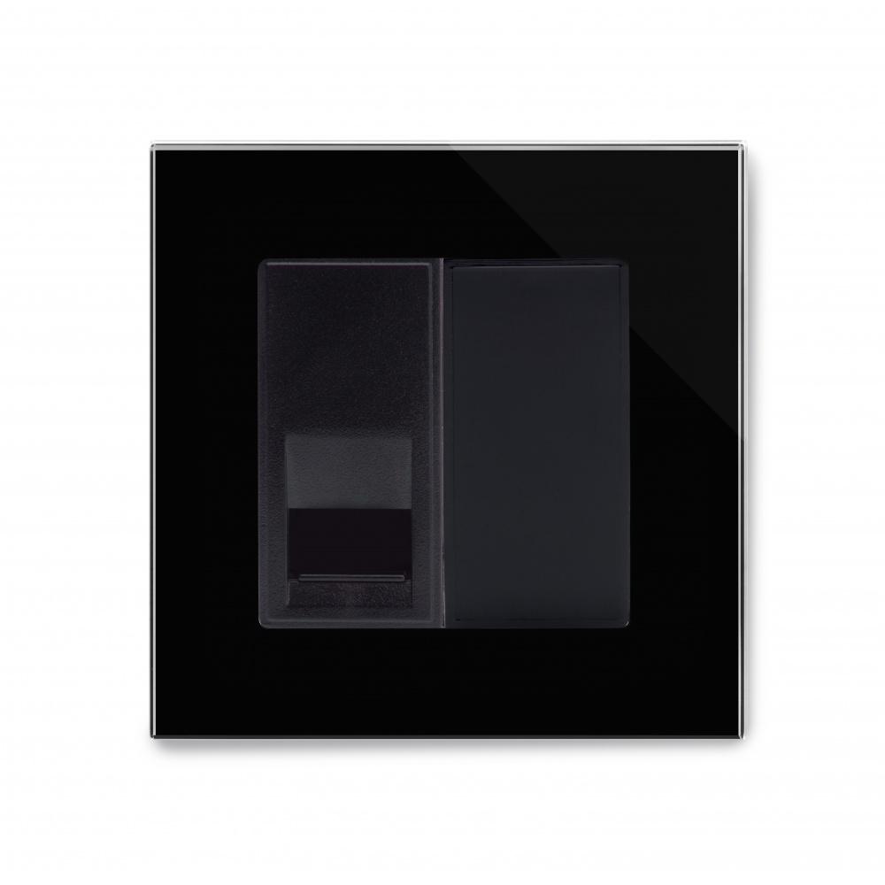 Crystal Pg Telephone Bt Master Socket Black Retrotouch Designer Wiring Box