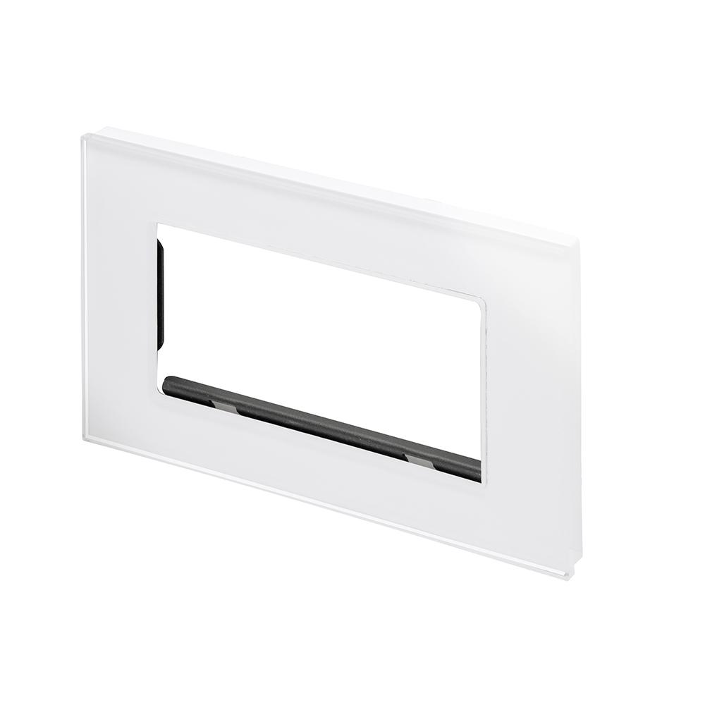 crystal pg euro module plate 4 gang white retrotouch designer light switches plug sockets. Black Bedroom Furniture Sets. Home Design Ideas