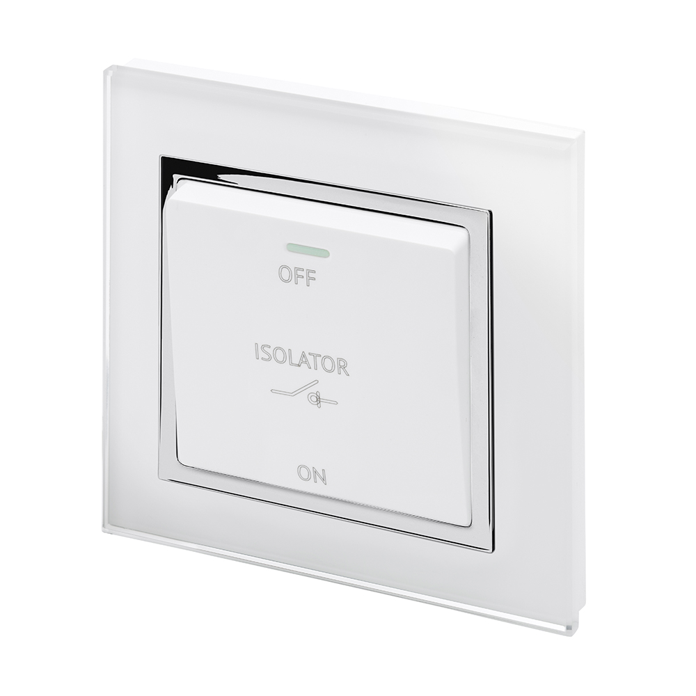 Crystal CT 10A 3-Pole Fan Isolator Switch White - RetroTouch ...