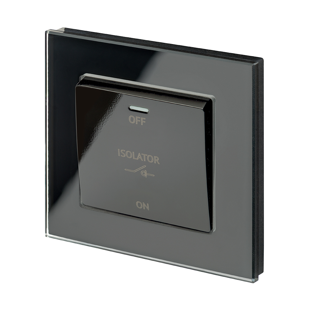 Crystal PG 10A 3-Pole Fan Isolator Switch Black - RetroTouch ...