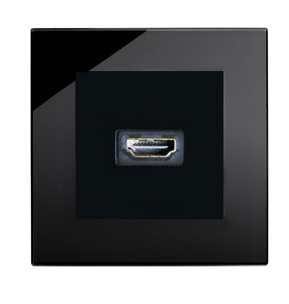 crystal pg hdmi socket black retrotouch designer light