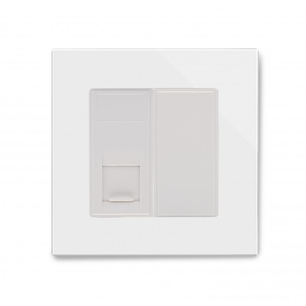 Crystal Pg Single Cat6e Socket White Retrotouch Designer Light Wiring A Plug Uk