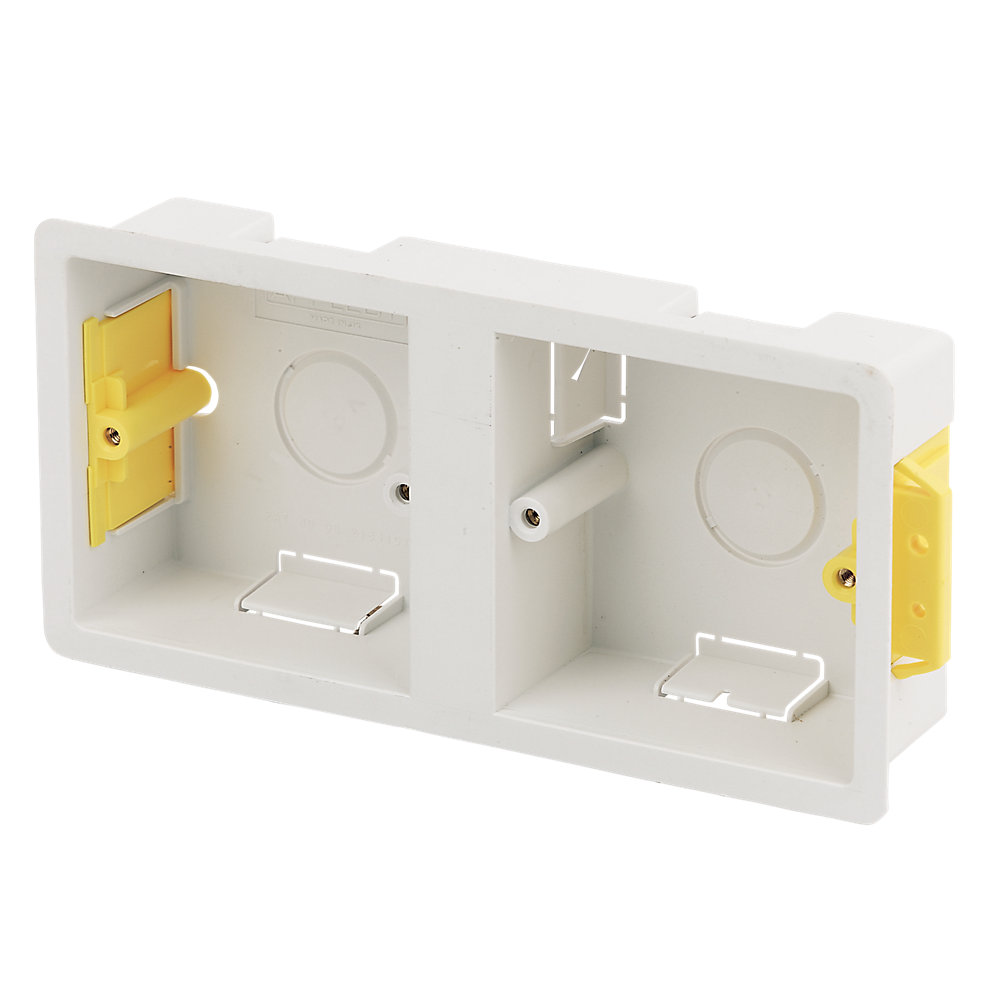 Dual Double Dry Lining Back Box 35mm Depth Retrotouch