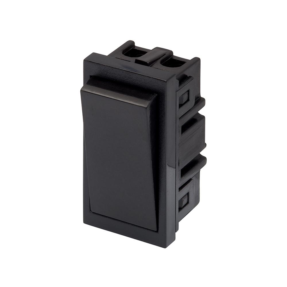 rt 10a intermediate rocker 25mm x 50mm black retrotouch designer light switches plug sockets. Black Bedroom Furniture Sets. Home Design Ideas