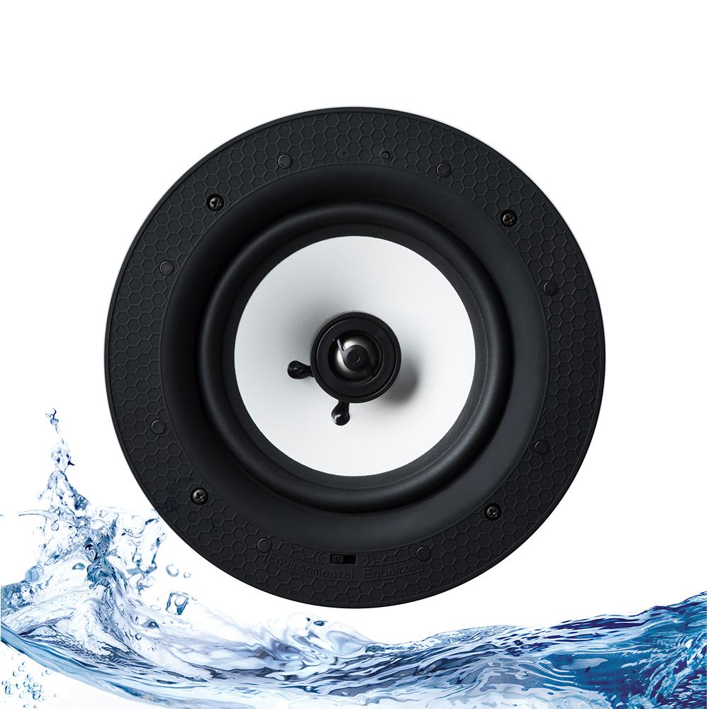Lithe audio 6 5 passive ip44 bathroom ceiling speaker single retrotouch designer light for Ceiling speakers for bathroom