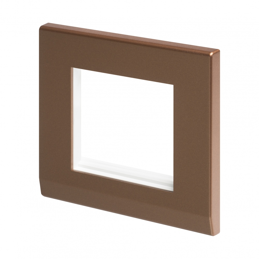 simplicity euro 2 module plate bronze retrotouch designer light switches plug sockets. Black Bedroom Furniture Sets. Home Design Ideas