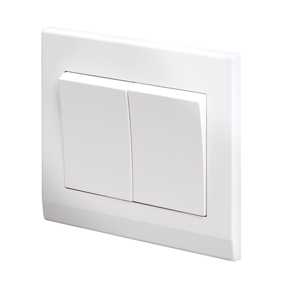 Simplicity Mechanical Light Switch 2 Gang White - RetroTouch ...