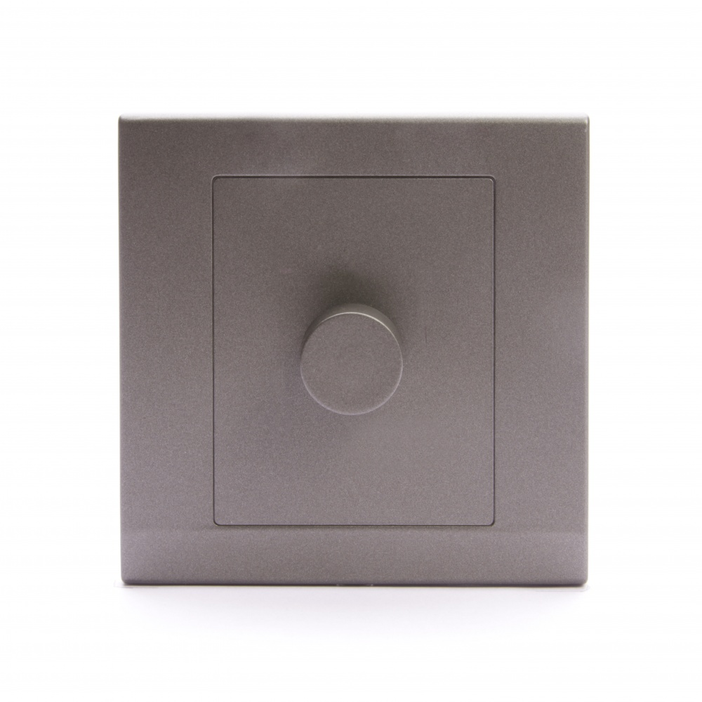 Simplicity Led Dimmer Light Switch 1 Gang 2 Way Charcoal
