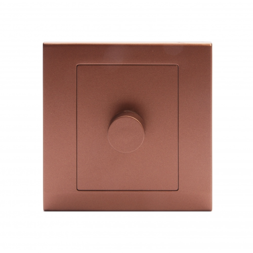 Simplicity Led Dimmer Light Switch 1 Gang 2 Way Copper Bronze