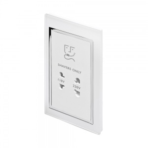 Crystal CT Shaver Socket White