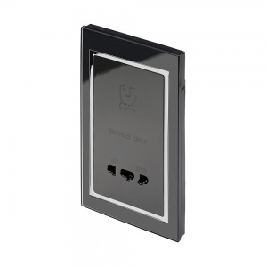 Crystal CT Shaver Socket Black