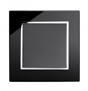 Crystal CT 1 Gang Blank Plate Black