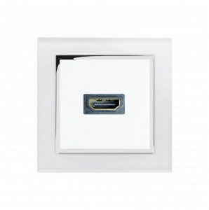 Crystal CT HDMI Socket White