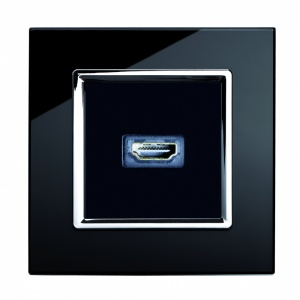 Crystal CT HDMI Socket Black