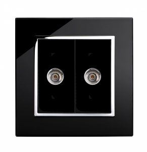 Crystal CT Dual TV Socket Black