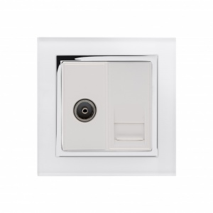 Crystal CT TV / BT Master Tel Socket White