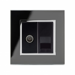 Crystal CT TV / BT Master Tel Socket Black