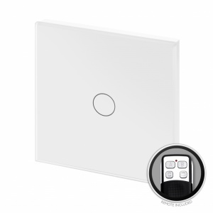 Crystal PG Touch & Remote Light Switch 1 Gang White
