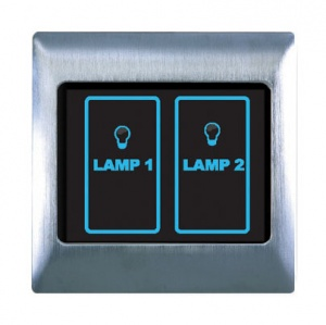Boutique Metal Touch & Remote Light Switch 2 Gang