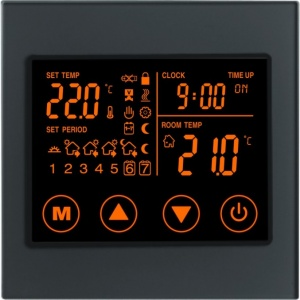 Boutique Underfloor Heating Electric Touch Thermostat V2 16A - HV100L8 Black
