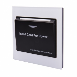 Energy Key Card Saver - White Acrylic