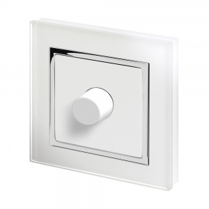 Crystal CT 1G Rotary LED Dimmer Switch 2 Way White