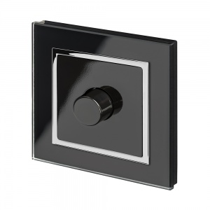 Crystal CT 1G Rotary LED Dimmer Switch 2 Way Black