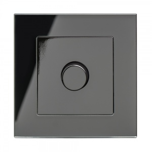 Crystal PG 1G Rotary LED Dimmer Switch 2 Way Black