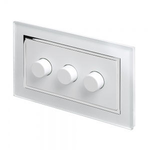 Crystal CT 3G Rotary LED Dimmer Switch 2 Way White