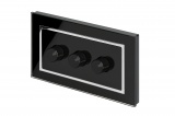 Crystal CT 3G Rotary LED Dimmer Switch 2 Way Black
