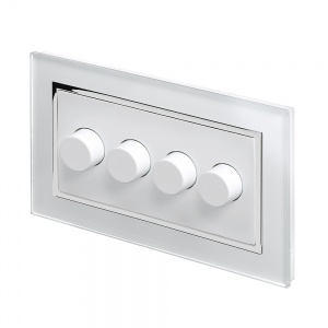 Crystal CT 4G Rotary LED Dimmer Switch 2 Way White
