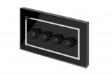 Crystal CT 4G Rotary LED Dimmer Switch 2 Way Black