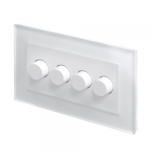 Crystal PG 4G Rotary LED Dimmer Switch 2 Way White