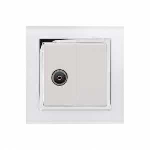 Crystal CT TV Socket White