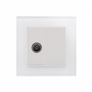 Crystal PG TV Socket White