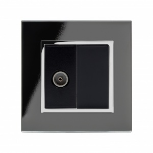 Crystal CT TV Socket Black